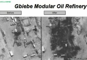 Islamic State: US releases oil refinery strikes images