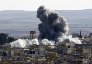 U.S.-led air strikes focus on Islamic State Kobani in Syria